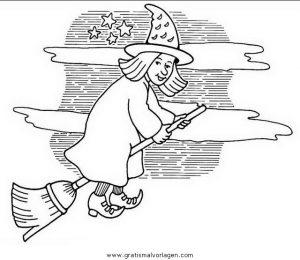 halloween hexen 44 gratis malvorlage in halloween, hexe