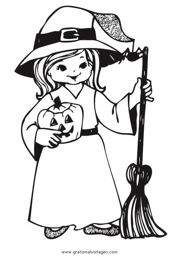Hexe Befana Malvorlagen zum Ausmalen für Kinder -
