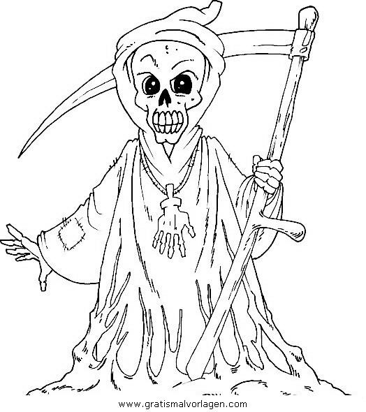 Halloween Monster 22 Gratis Malvorlage In Halloween Halloween