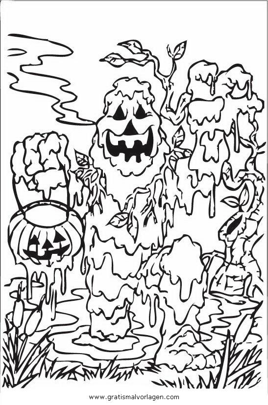 halloween monster 43 gratis Malvorlage in Halloween, Halloween ...