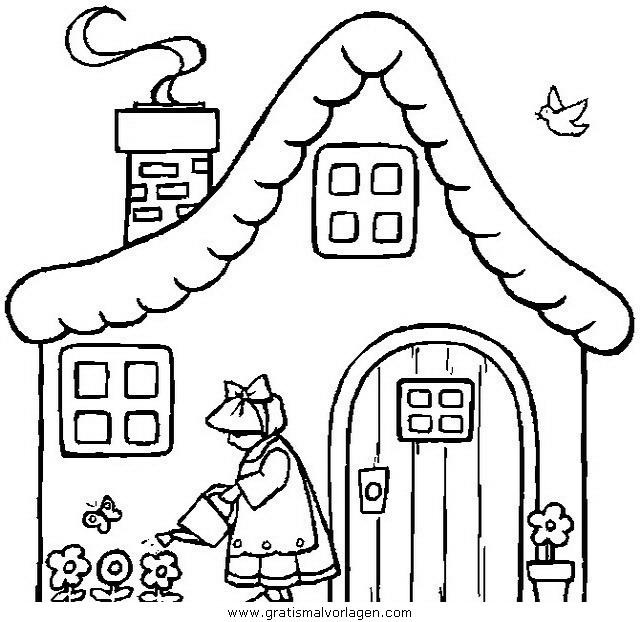 hauser 01 gratis malvorlage in diverse malvorlagen häuser