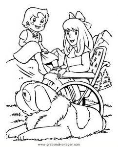 Heidi 02 Gratis Malvorlage In Comic Trickfilmfiguren Heidi Ausmalen