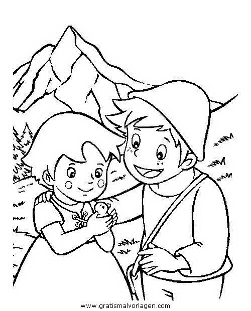 heidi 03 gratis malvorlage in comic  trickfilmfiguren