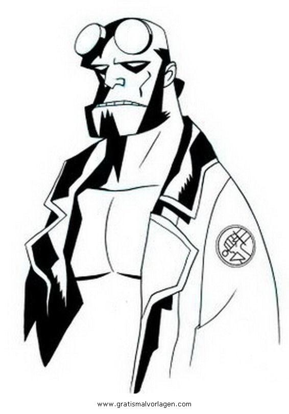 Galupy 1 Gratis Malvorlage In Comic Trickfilmfiguren: Hellboy 1 Gratis Malvorlage In Comic & Trickfilmfiguren