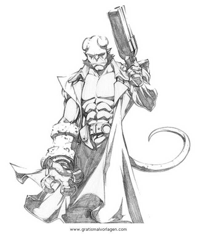 hellboy 2 gratis Malvorlage in