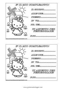 Hello Kitty Gratis Malvorlage In Alphabet Einladung Ausmalen