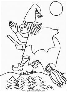 Malvorlage Hexe Befana hexen 22