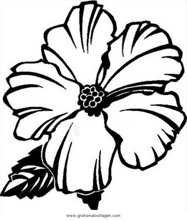 Galupy 1 Gratis Malvorlage In Comic Trickfilmfiguren: Hibiskus1 Gratis Malvorlage In Blumen, Natur