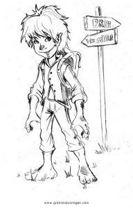 Hobbit 1 Gratis Malvorlage In Comic Trickfilmfiguren Hobbit