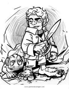 Hobbit 5 Gratis Malvorlage In Comic Trickfilmfiguren Hobbit
