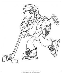 Malvorlage Hockey hockey 22