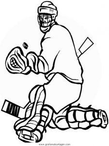 Malvorlage Hockey hockey 25
