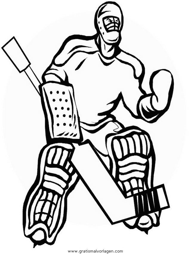 Hockey 26 Gratis Malvorlage In Hockey Sport Ausmalen