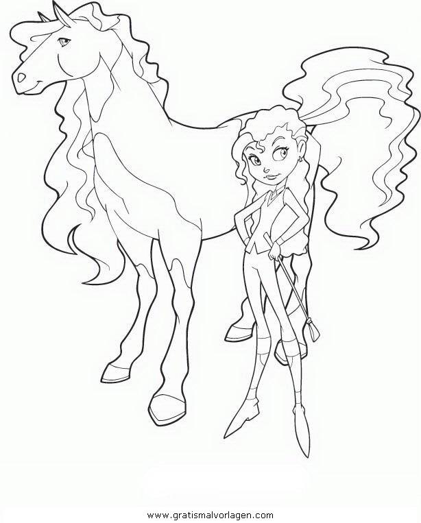 horseland 01 gratis malvorlage in comic  trickfilmfiguren