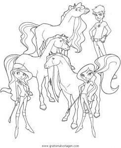 horseland 13 gratis malvorlage in comic  trickfilmfiguren, horseland - ausmalen