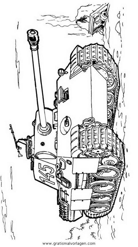 hummel panzer 12 gratis malvorlage in panzer