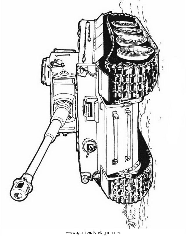 hummel panzer 13 gratis malvorlage in panzer