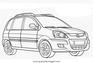 Malvorlage Autos2 hyundai matriz