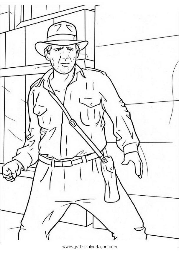 Indiana Jones 0 Gratis Malvorlage In Comic Trickfilmfiguren Indiana Jones Ausmalen