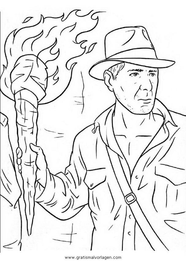 Indiana Jones 1 Gratis Malvorlage In Comic Trickfilmfiguren Indiana Jones Ausmalen