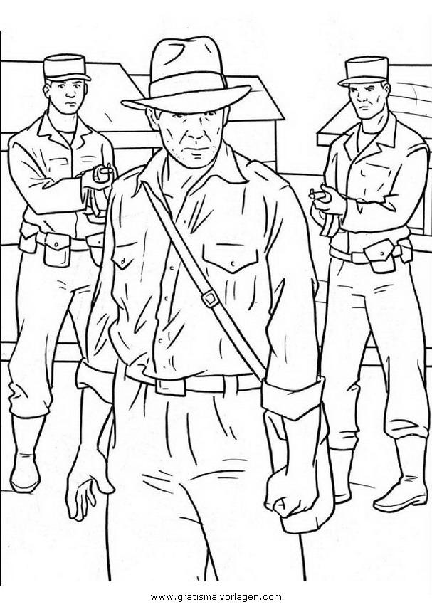 Indiana Jones 2 Gratis Malvorlage In Comic Trickfilmfiguren Indiana Jones Ausmalen
