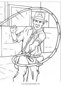 Indiana Jones 7 Gratis Malvorlage In Comic Trickfilmfiguren Indiana Jones Ausmalen