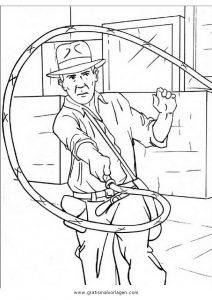 Indiana Jones 4 Gratis Malvorlage In Comic Trickfilmfiguren