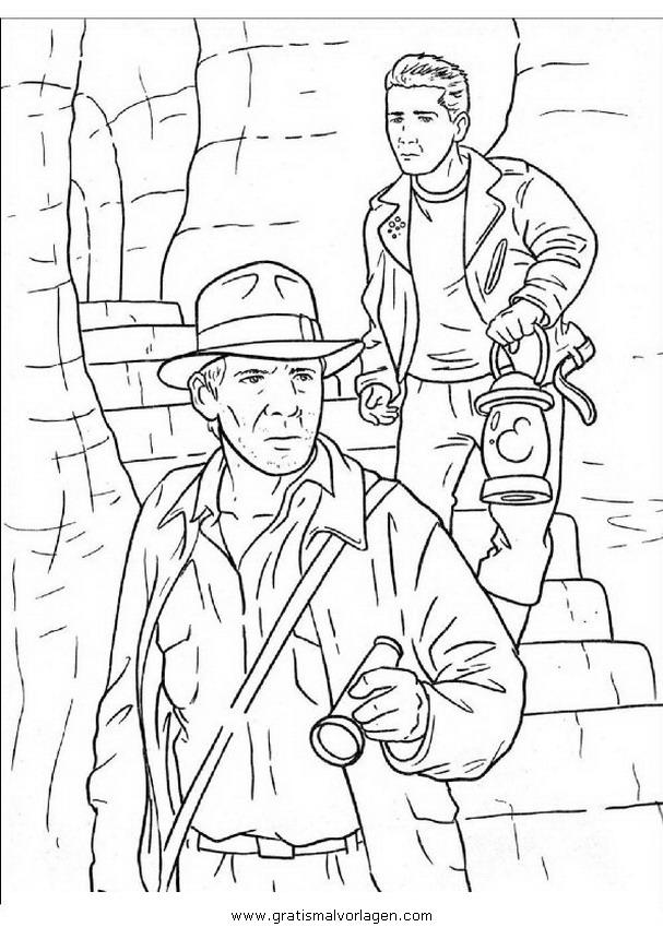Indiana Jones 5 Gratis Malvorlage In Comic Trickfilmfiguren Indiana Jones Ausmalen