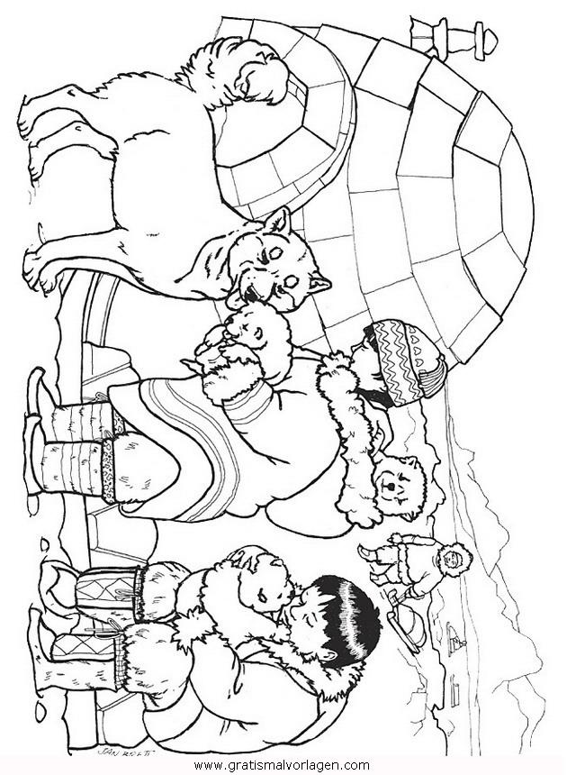 Inuit 9 gratis malvorlage in beliebt13 diverse - Coloriage igloo ...