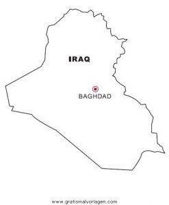 Malvorlage Landkarten Landkarte Iraq