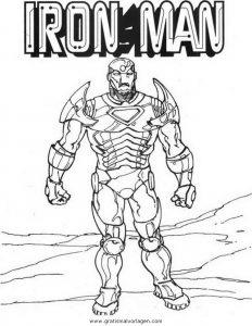 Iron Man 01 Gratis Malvorlage In Comic Trickfilmfiguren