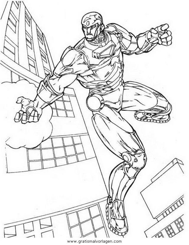 iron man 03 gratis malvorlage in comic  trickfilmfiguren