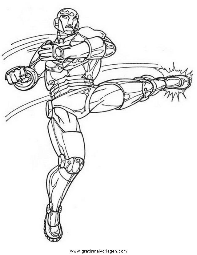 iron man 04 gratis malvorlage in comic  trickfilmfiguren