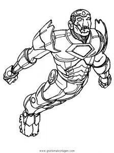 Iron Man 07 Gratis Malvorlage In Comic Trickfilmfiguren