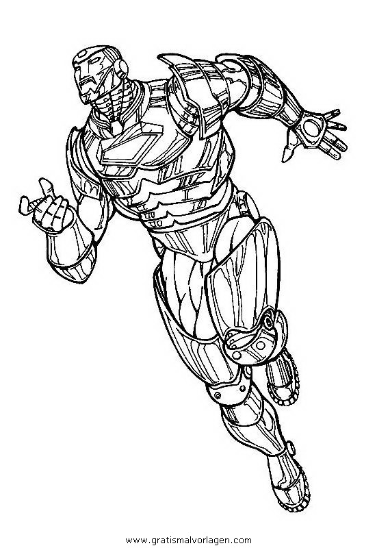 iron man 15 gratis malvorlage in comic  trickfilmfiguren