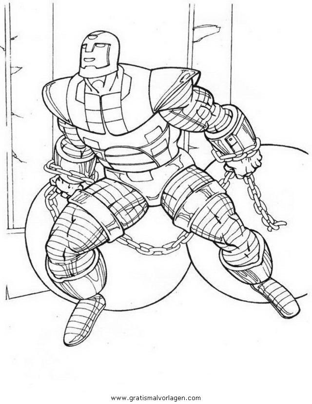 iron man 18 gratis malvorlage in comic  trickfilmfiguren