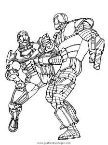Iron Man 23 Gratis Malvorlage In Comic Trickfilmfiguren