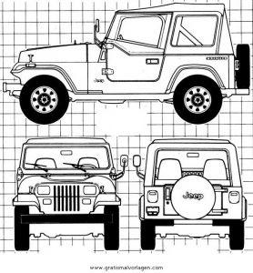 Jeep 2 Gratis Malvorlage In Lastwagen Transportmittel Ausmalen