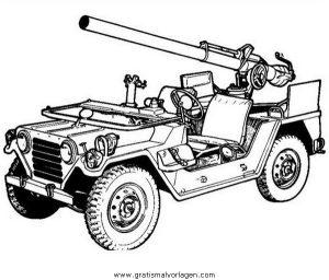Jeep 4 Gratis Malvorlage In Lastwagen Transportmittel Ausmalen