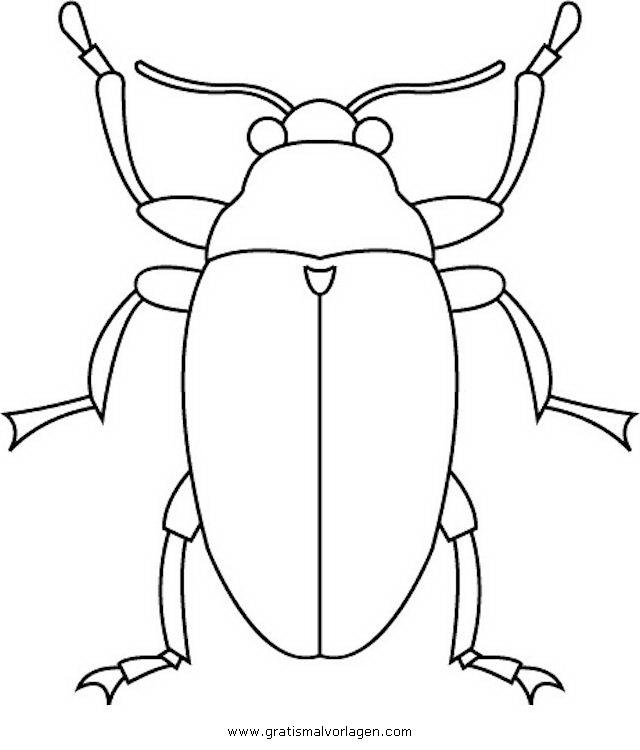 kaefer 2 gratis Malvorlage in Insekten, Tiere - ausmalen