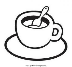Malvorlage Lebensmittel Speisen kaffe 3