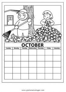 Malvorlage Kalender kalender 01