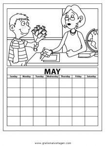 Malvorlage Kalender kalender 03
