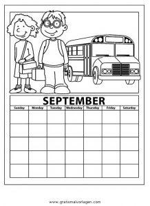 Malvorlage Kalender kalender 05