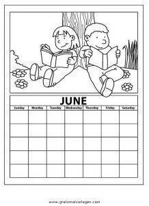 Malvorlage Kalender kalender 06