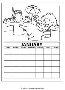 Malvorlage Kalender kalender 07