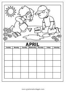 Malvorlage Kalender kalender 13