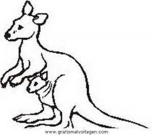Kangurus 49 Gratis Malvorlage In Kängurus Tiere Ausmalen