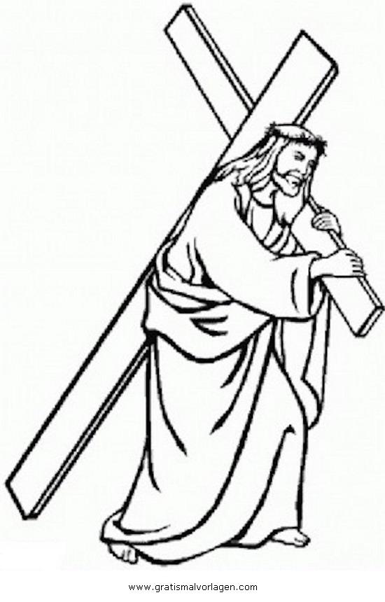 karfreitag 2 gratis malvorlage in jesus religionen  ausmalen