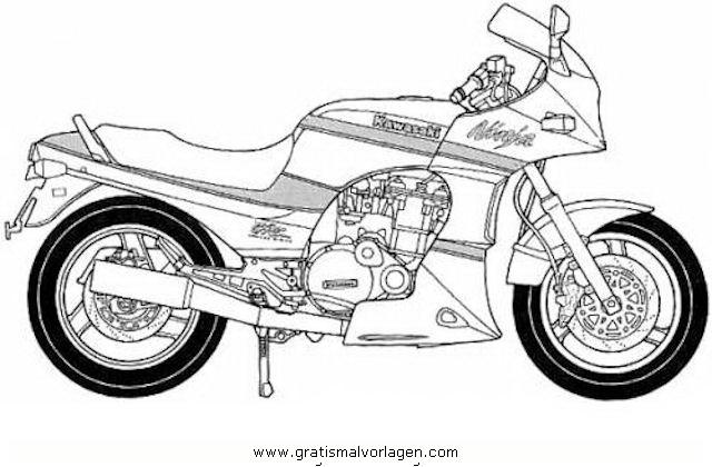 malvorlagen motorrad kawasaki  coloring and malvorlagan